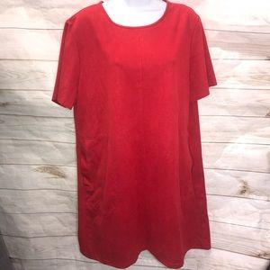 Zara Basic Red Shift Dress